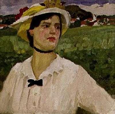 Mädchen mit Hut bei Wessling