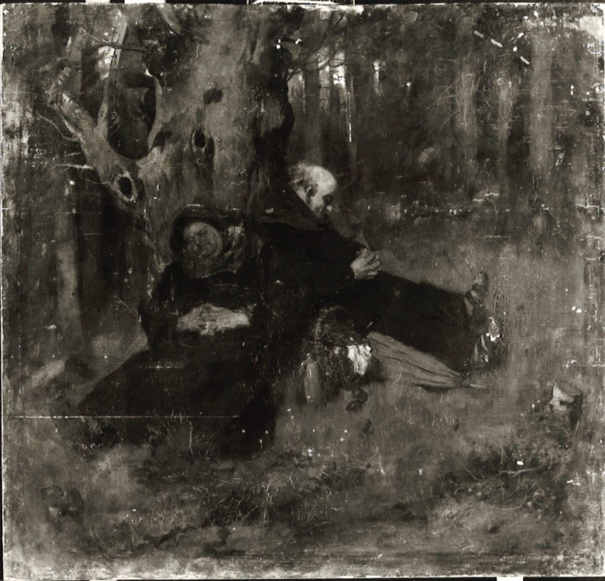 Waldidyll (Zwei schlafende Mönche)