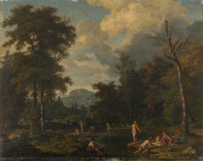 Landschaft mit badenden Nymphen