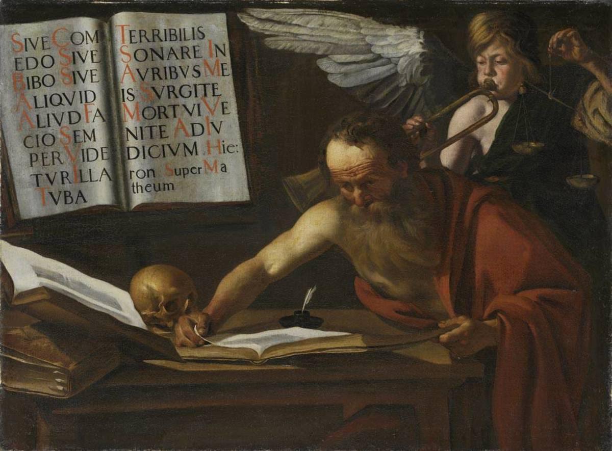 Hl. Hieronymus mit dem Posaunenengel