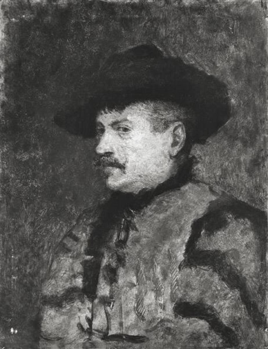 Brustbild eines ungarischen Bauern