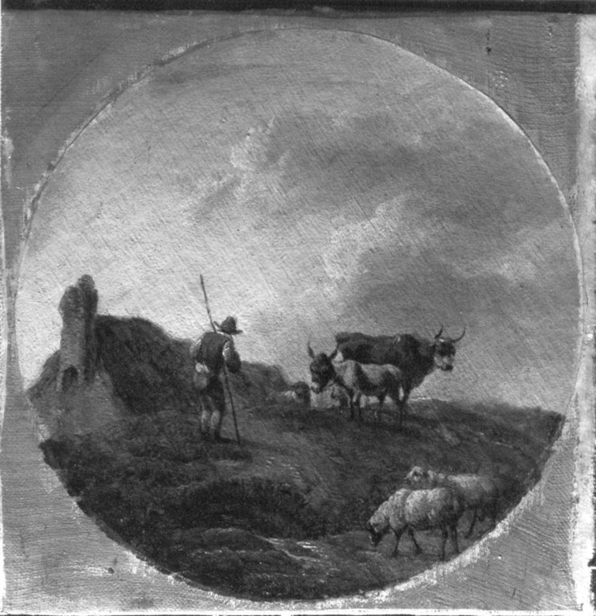 Landschaft mit Vieh