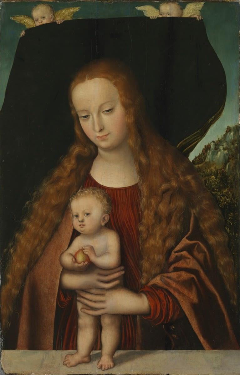 Maria und das Jesuskind mit einem Apfel