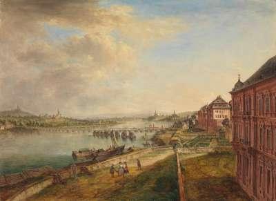 Rheinansicht bei Mainz