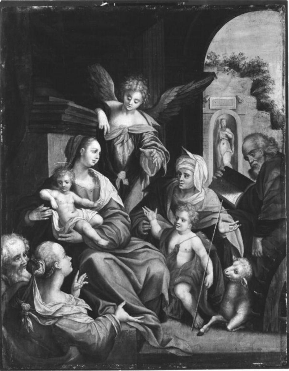 Heilige Familie mit Elisabeth, Johannes, Zacharias und Katharina