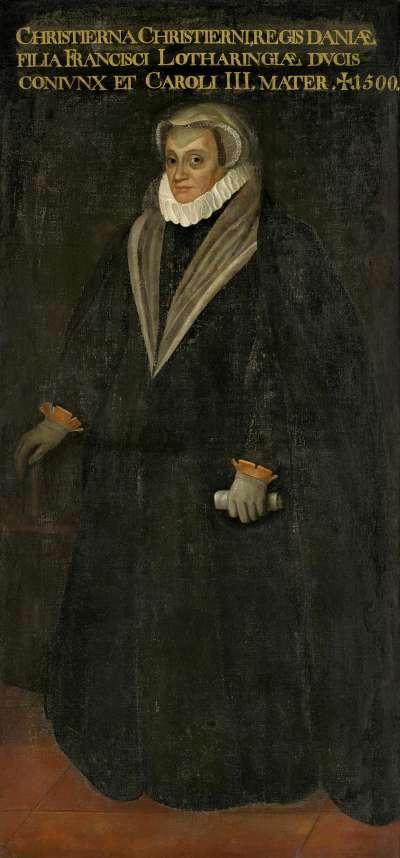Bildnis der Christina von Dänemark, Herzogin von Mailand und Lothringen (1521-1590)