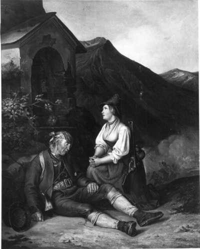 Szene aus dem Tiroler Krieg von 1809