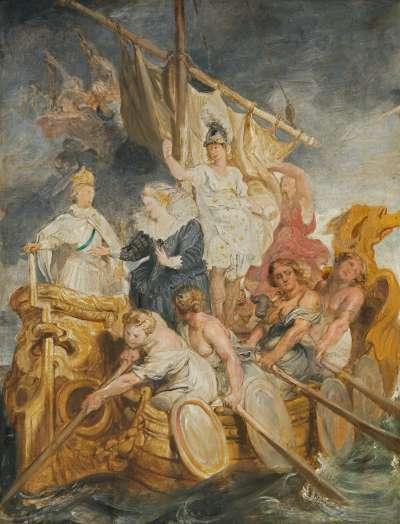 Die Übergabe der Regentschaft an den Dauphin (Skizze zum Medici-Zyklus)