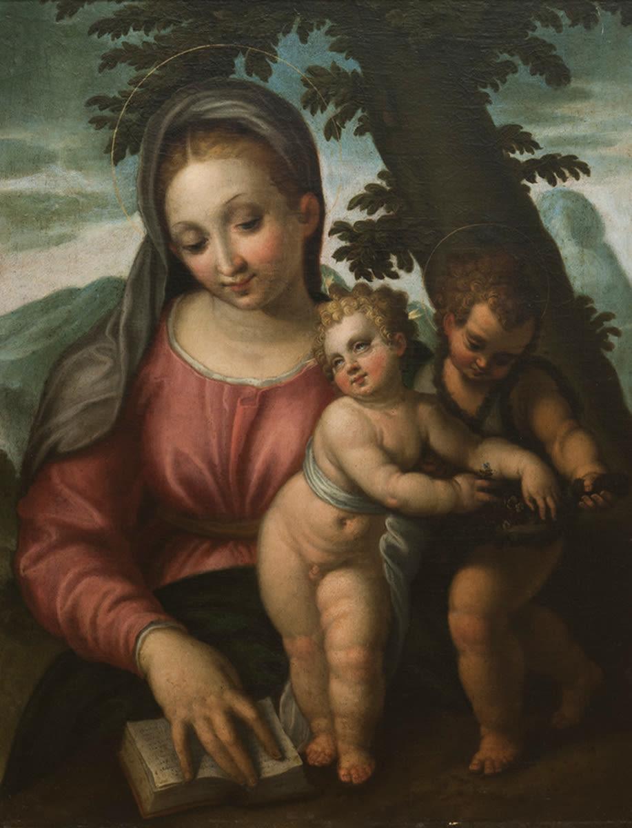 Maria mit Jesuskind und Johannes
