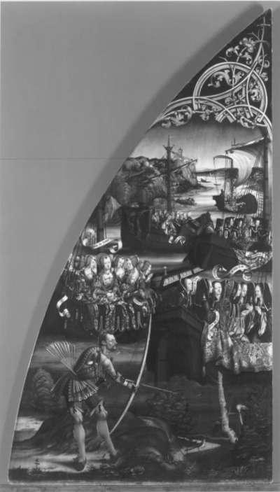 Basilika Santa Croce, linke Tafel: Legende der hl. Ursula