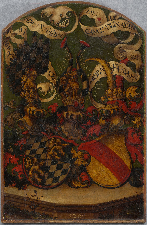 Herzog Wilhelm IV. von Bayern Rückseite: Wappen Bayern-Baden und Devise