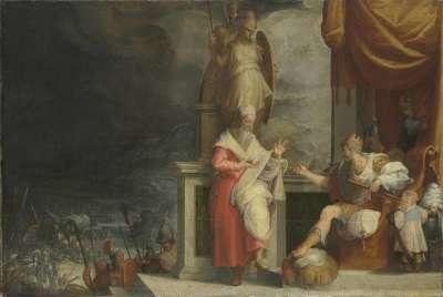 Darius weist die Ratschläge des Charidemus zurück