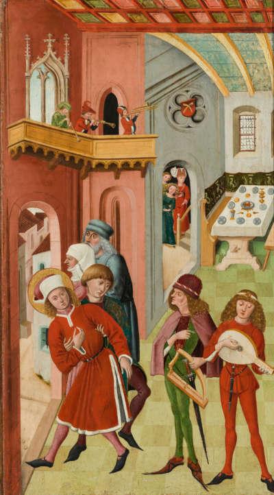 Veitsaltar: Versuchungen des hl. Veit
