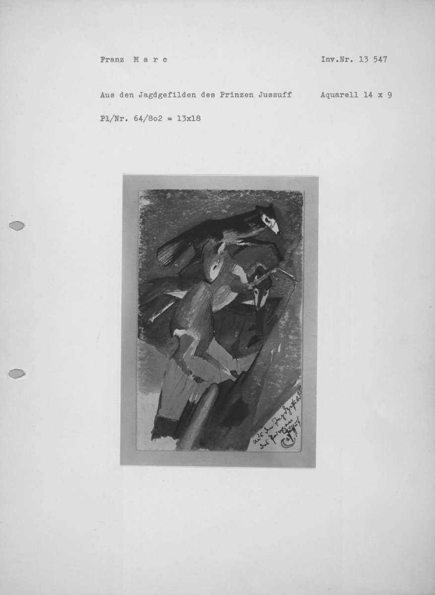 Aus den Jagdgefilden des Prinzen Jussuff