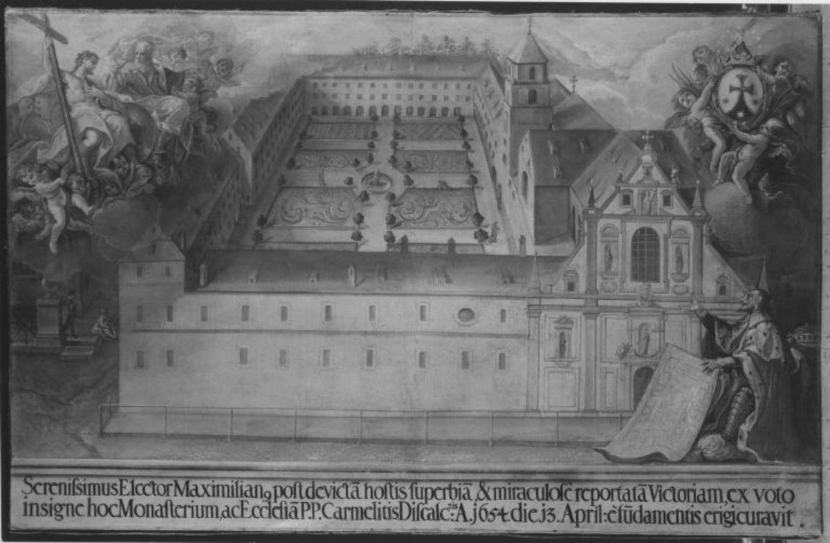 Ansicht des Münchner Karmelitenklosters