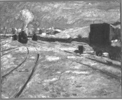 Bahnhof im Schnee