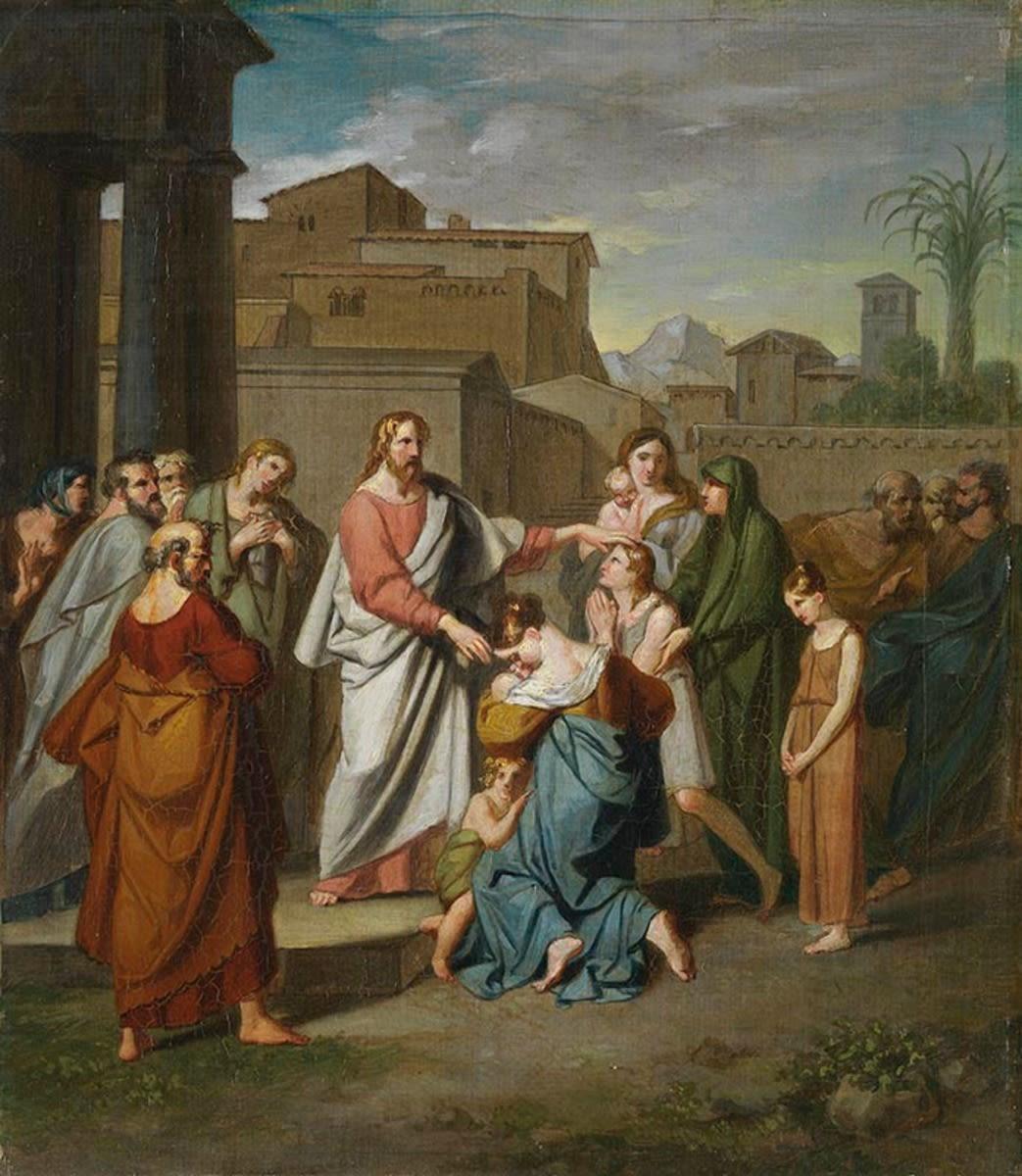 Christus, die Kinder segnend