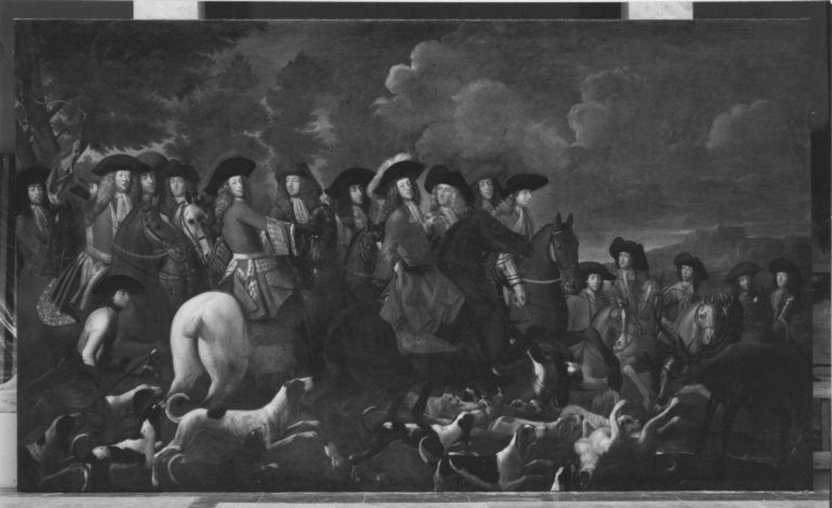 Kurfürst Max Emanuel auf einer Parforce-Jagd