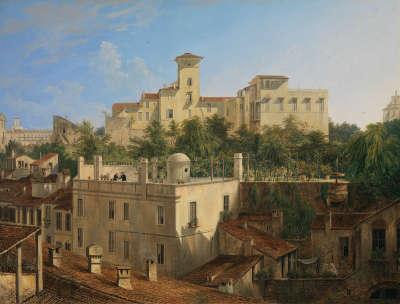 Blick auf die Villa Malta in Rom