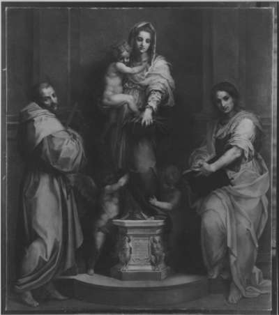 Madonna mit Heiligen (nach Andrea del Sarto)
