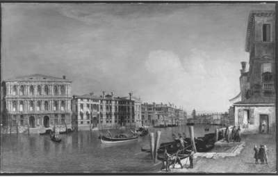 Der Canal Grande bei Cà Pesaro