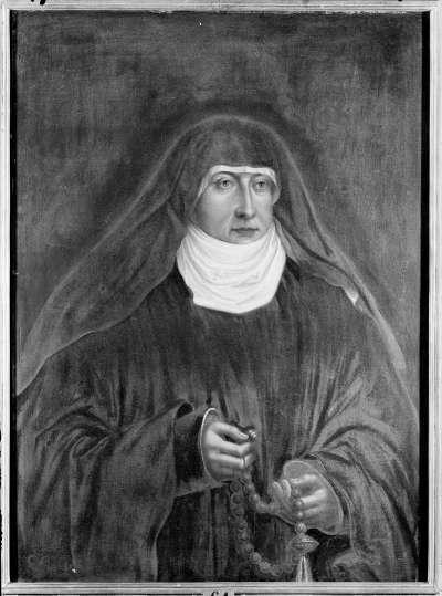 Bildnis der Herzogin Margarethe von Landshut, Äbtissin von Neuburg, Tochter des Herzogs Georg des Reichen von Bayern-Landshut (1480-1531) (Kopie nach Hans Wertinger)