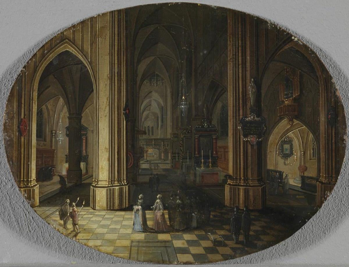 Inneres einer gotischen Kirche