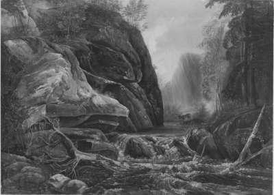 Wildbach im Plauenschen Grund (Norwegische Flusslandschaft)