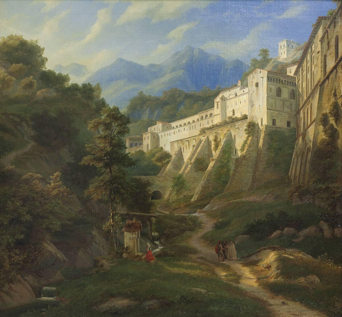 Schlucht unterhalb des Benediktinerklosters SS. Trinità bei Cava dei Tirreni