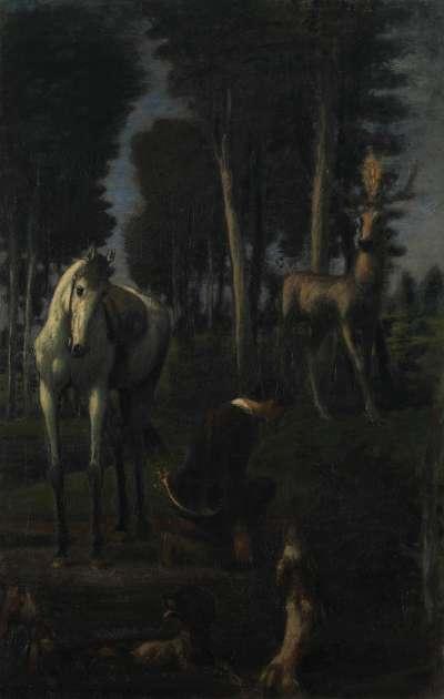 Die drei Reiter II: Hl. Hubertus