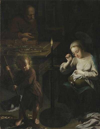 Die Heilige Familie in der Zimmermannswerkstatt