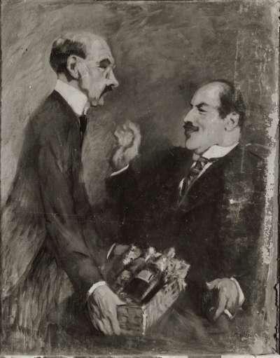 Bildnis mit zwei Herren