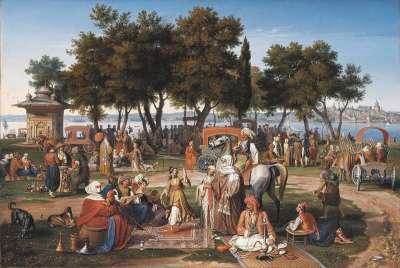An den Süßen Wassern Asiens in Konstantinopel