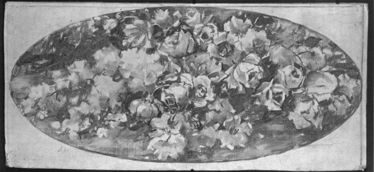 Rosen auf ovalem Feld