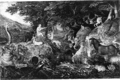Waldlandschaft mit Orpheus