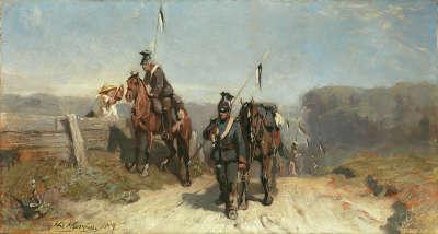 Ulanen auf dem Marsch