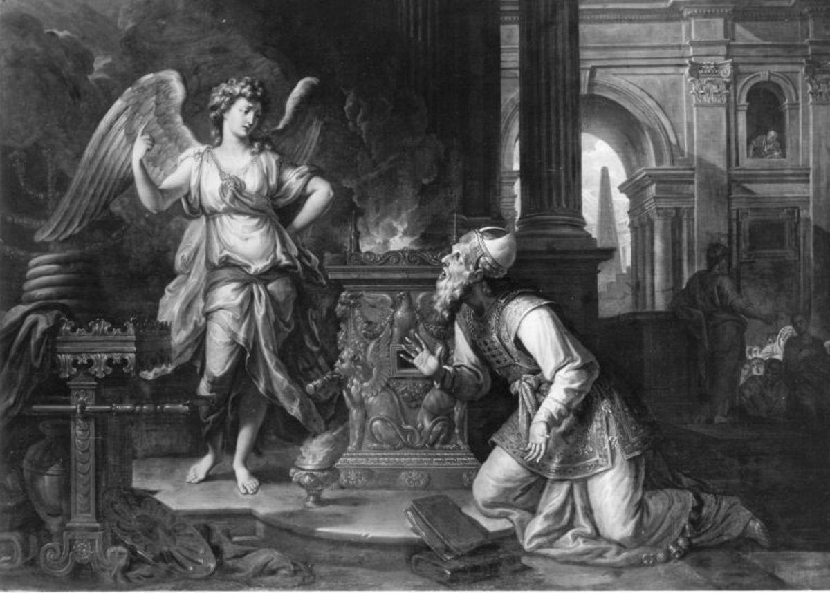 Der Engel erscheint Zacharias
