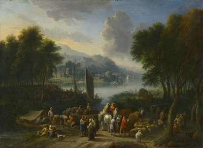Landschaft an einem Fluss