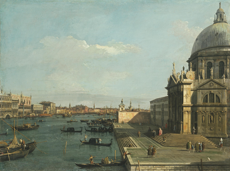 Santa Maria della Salute und die Riva degli Schiavoni in Venedig