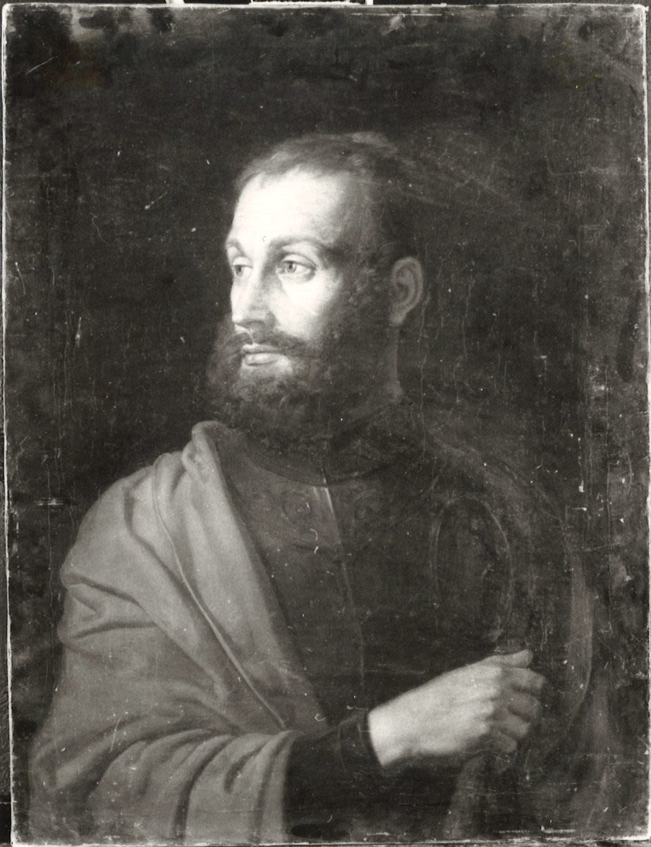 Bildnis eines bärtigen Mannes mit Harnisch