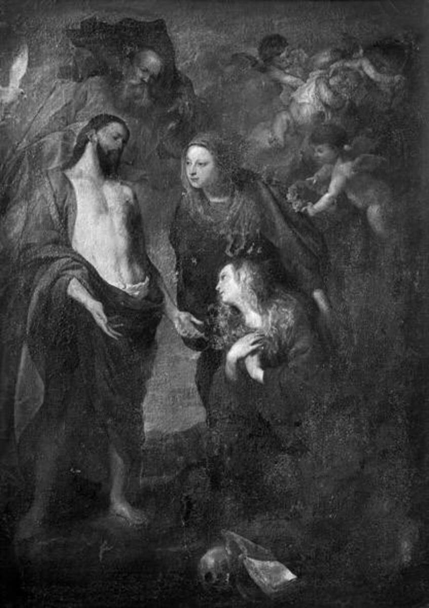 Die Heilige Dreifaltigkeit erscheint der hl. Rosalie