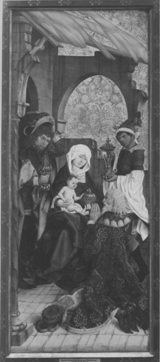 Liebfrauenaltar: Anbetung der Könige (Rückseite: Auferstehung Christi)