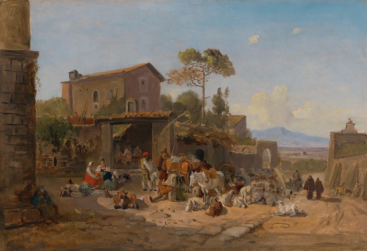 Trattoria bei der Porta San Sebastiano vor Rom