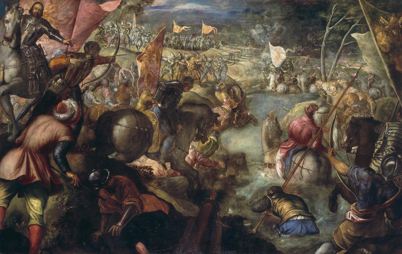 Der Gonzaga-Zyklus, Francesco II. Gonzaga kämpft in der Schlacht am Taro gegen Karl VIII. von Frankreich