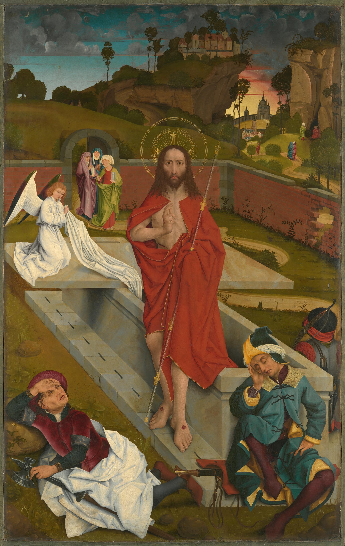 Hofer Altar: Auferstehung Christi (Rückseite: Apostel Bartholomäus und Jakobus)