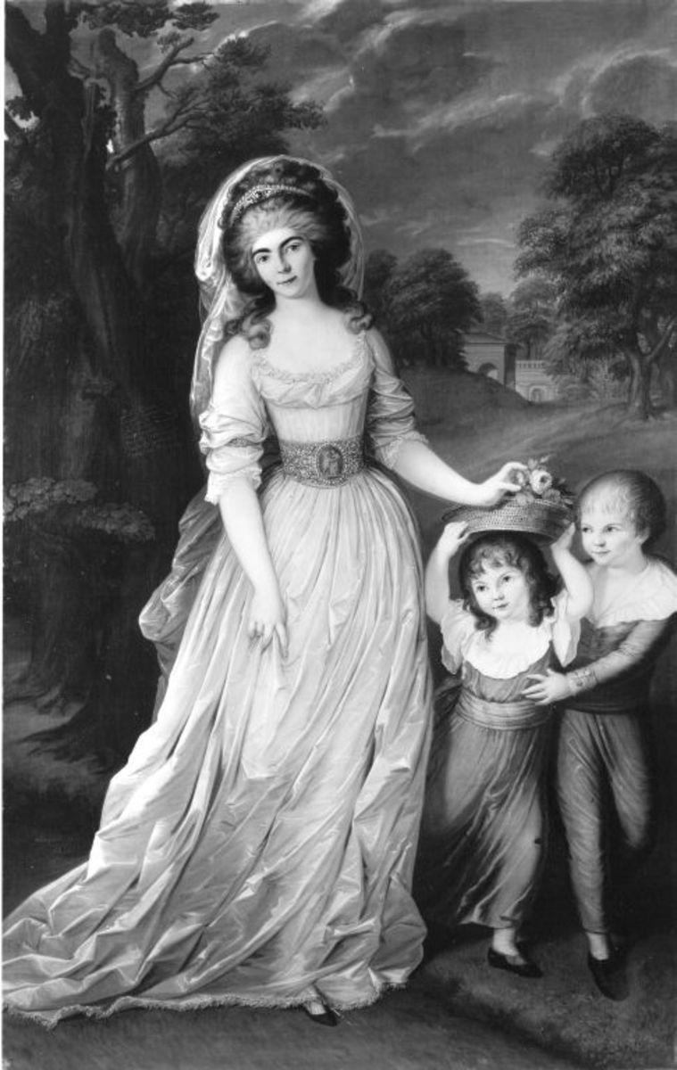 Auguste Wilhelmine von Hessen-Darmstadt mit ihren Kindern