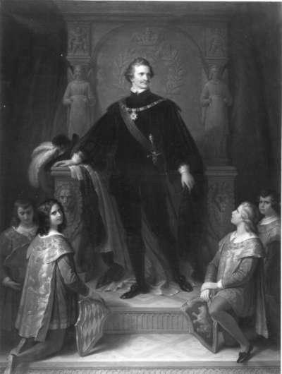 König Ludwig I. von Bayern als Hubertusritter