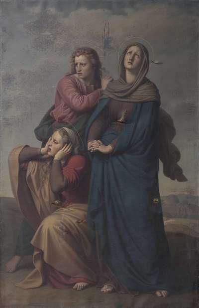 Maria, Johannes und Maria Magdalena auf Golgatha