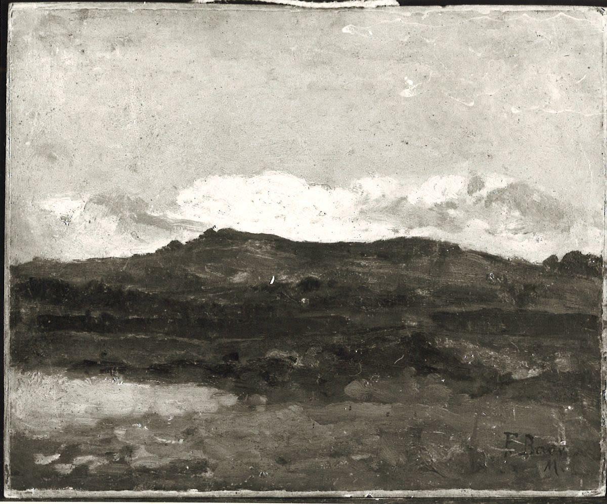 Landschaft mit See und Berg