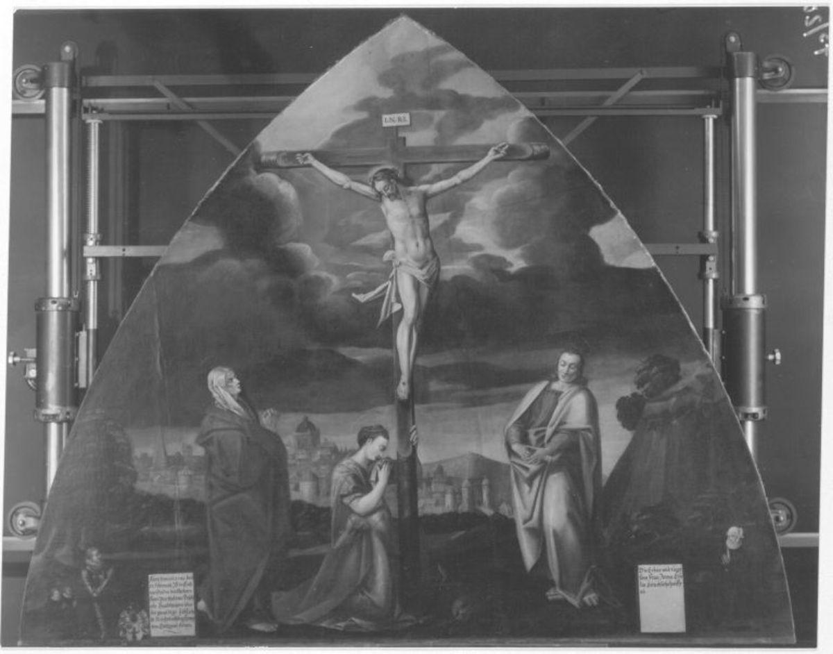 Christus am Kreuz mit Maria, Johannes und Magdalena (Epitaph Pfefferle)